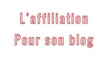 affiliation blog