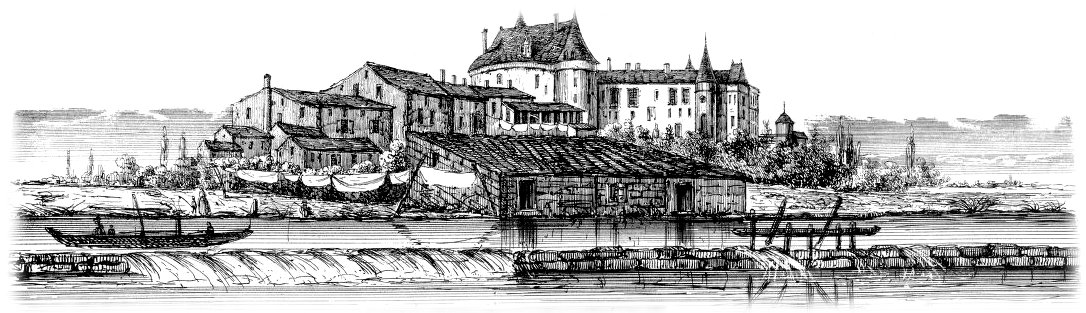 Jonzac et son château.