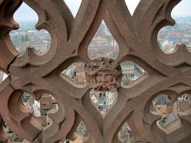 Balustrade cathédrale de Strasbourg.