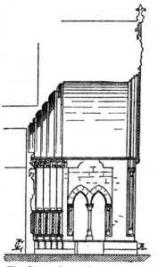 Coupe du porche de la cathédrale de Laon
