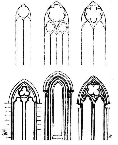 Galbes de fenêtres du XIIIe siècle.