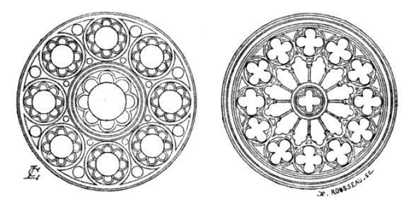 Roses du XIIIe siècle.