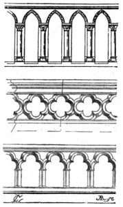 Balustrade du XIIIe siècle.