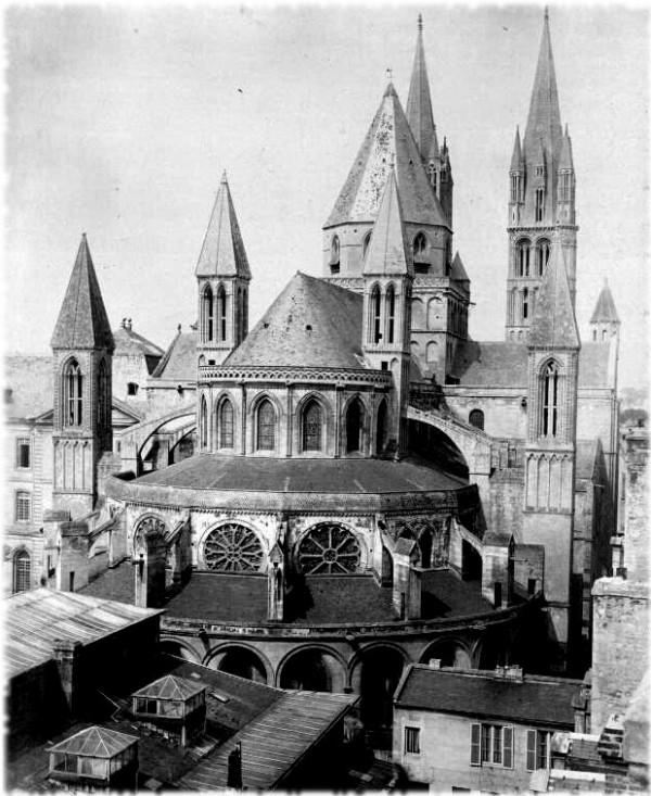 Caen, l'Abside de l'Eglise Saint-Étienne, Abbaye aux Homme