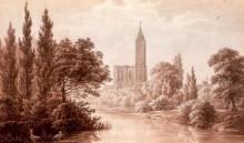 Cathédrale de Strasbourg, dessin R. D'Or 18e / 19e