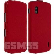 Housse à Clapet pour Nexus 4 Rouge