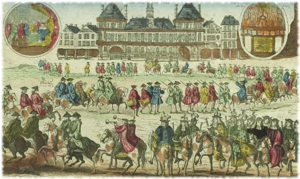 Cérémonie de l'ordre et de la marche de la publication de la paix devant l'Hôtel de ville 1806